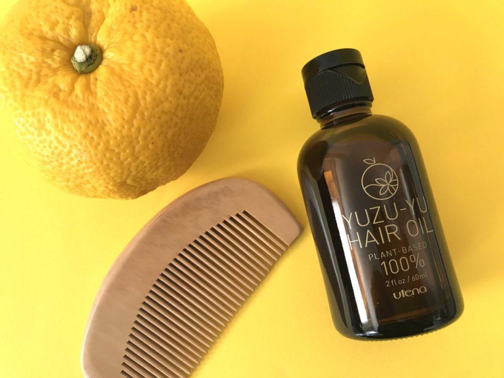 chăm sóc tóc bằng dầu dưỡng Utena Yuzu Hair Oil