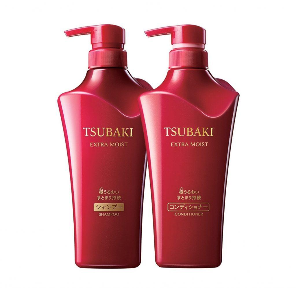 chăm sóc tóc bằng dầu gội tsubaki