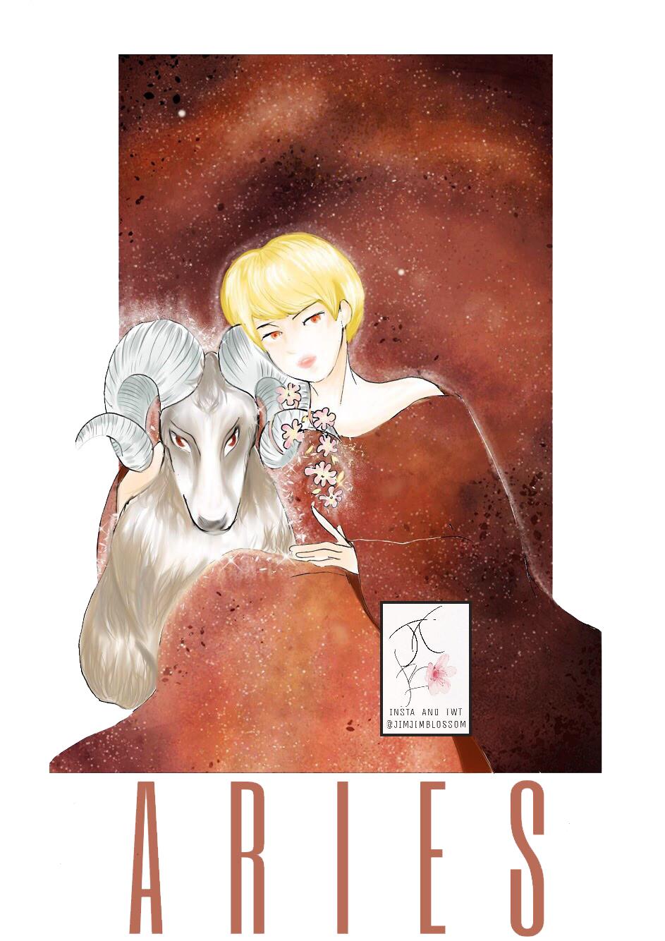 cô gái tóc vàng ngôi bên cạnh con - cung hoàng đạo bạch dương