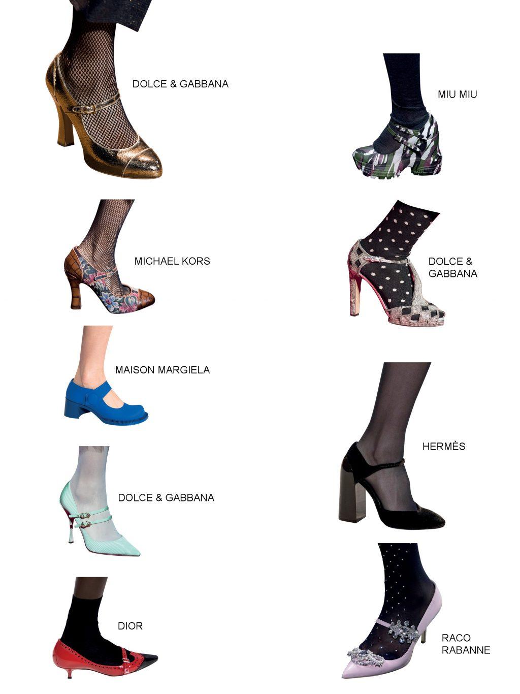 xu hướng phụ kiện giày mary jane