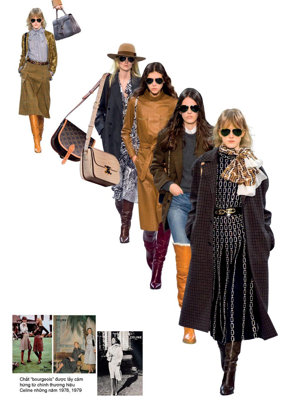 bst thời trang mùa thu - đông 2019 celine