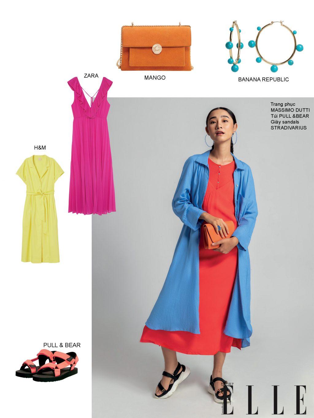 cách phối màu quần áo với màu neon