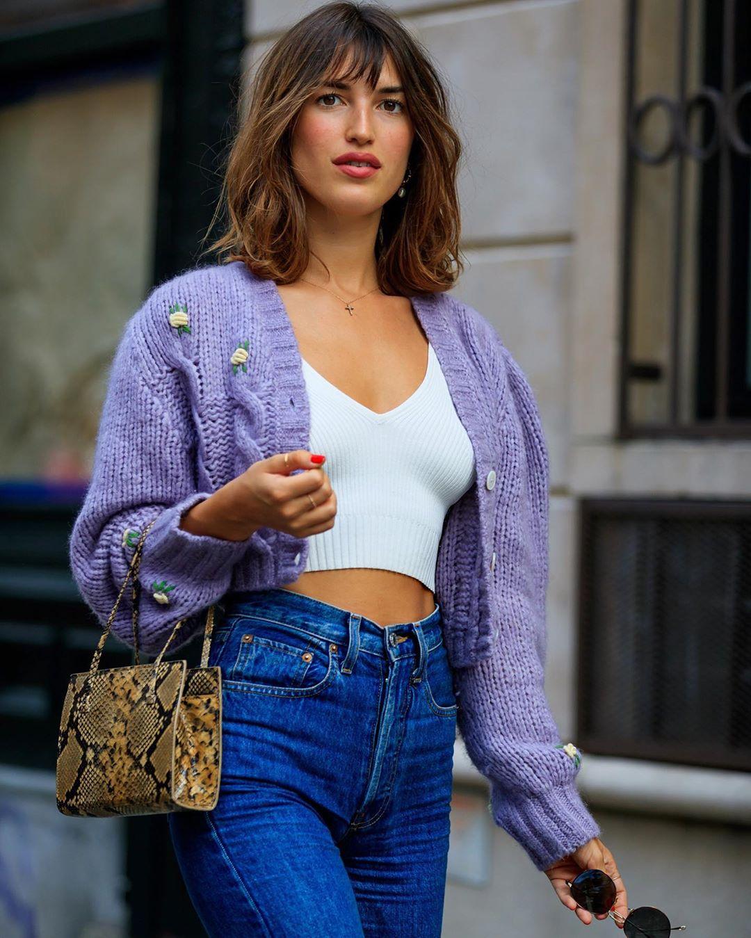 trang phục tham dự new york fashion week của Jeanne Damas