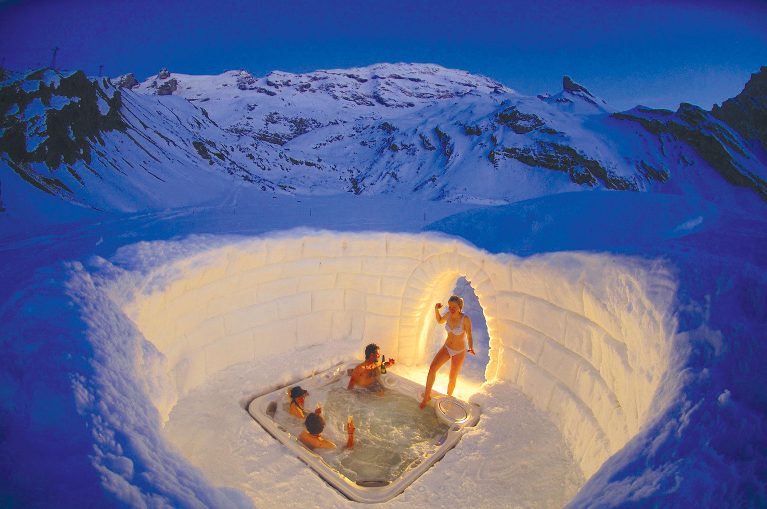 khách sạn tuyết