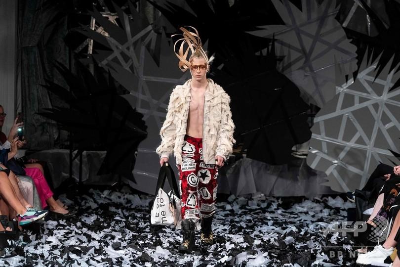 Một trong những thiết kế vừa được ra mắt của thương hiệu Vin + Omi tại Tuần lễ thời trang London Xuân - Hè 2020.