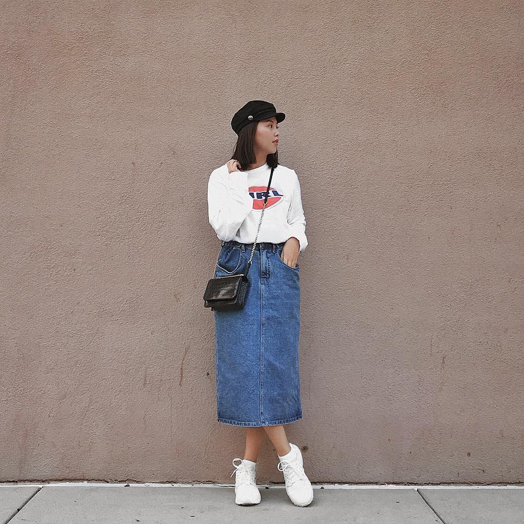 sơ vin đồ secondhand - chân váy jean