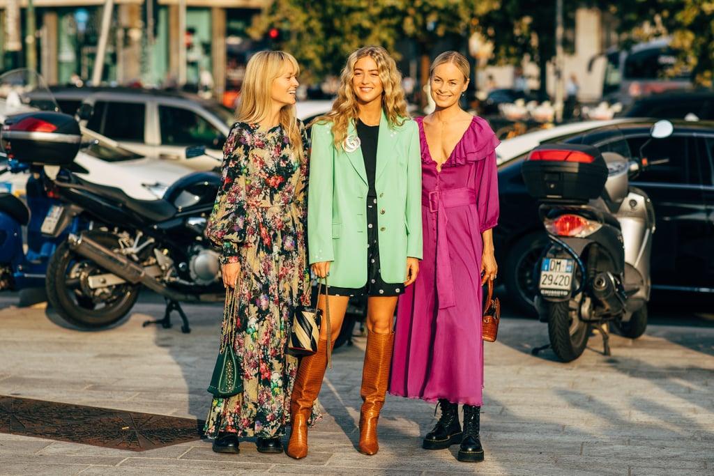 chất liệu da và hoạ tiết là hai xu hướng street style tại tuần lễ thời trang milan xuân hè 2020