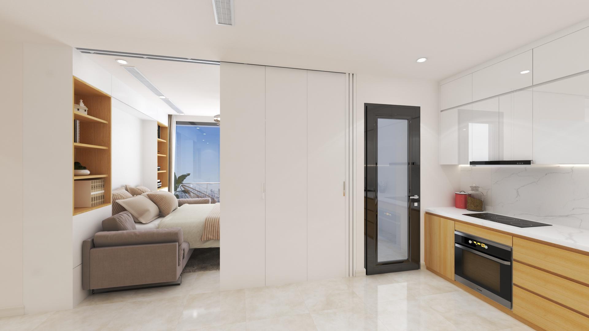tiết kiệm không gian với phòng khách thông minh