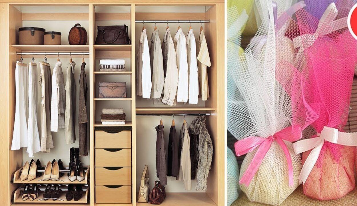 Tìm thêm không gian cho tủ đồ và đặt túi thơm
