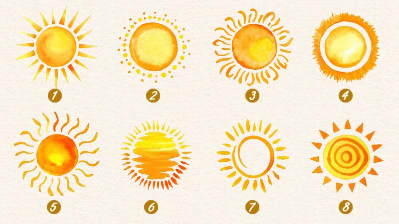 trắc nghiệm hình ảnh mặt trời