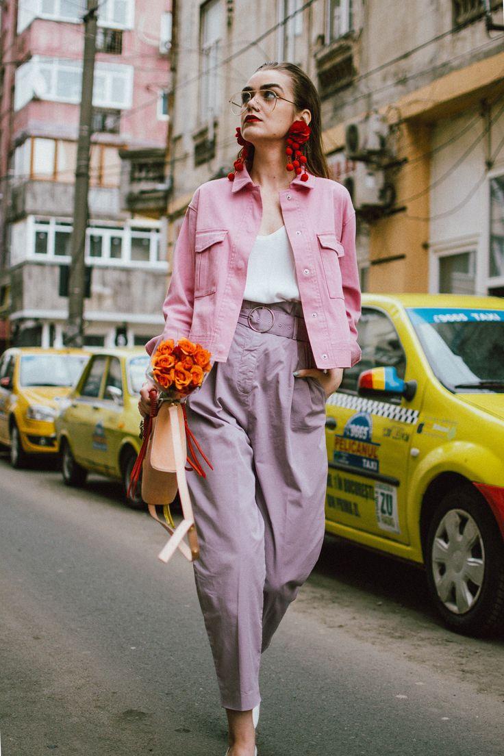 trang phục màu hồng ngọt ngào với tông màu pastel