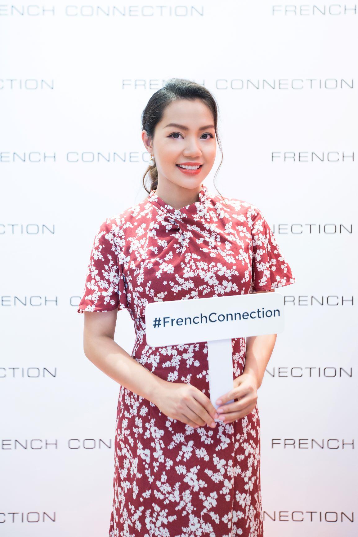 Ca sĩ Ngọc Anh tại sự kiện thời trang ra mắt BST mới của FCUK