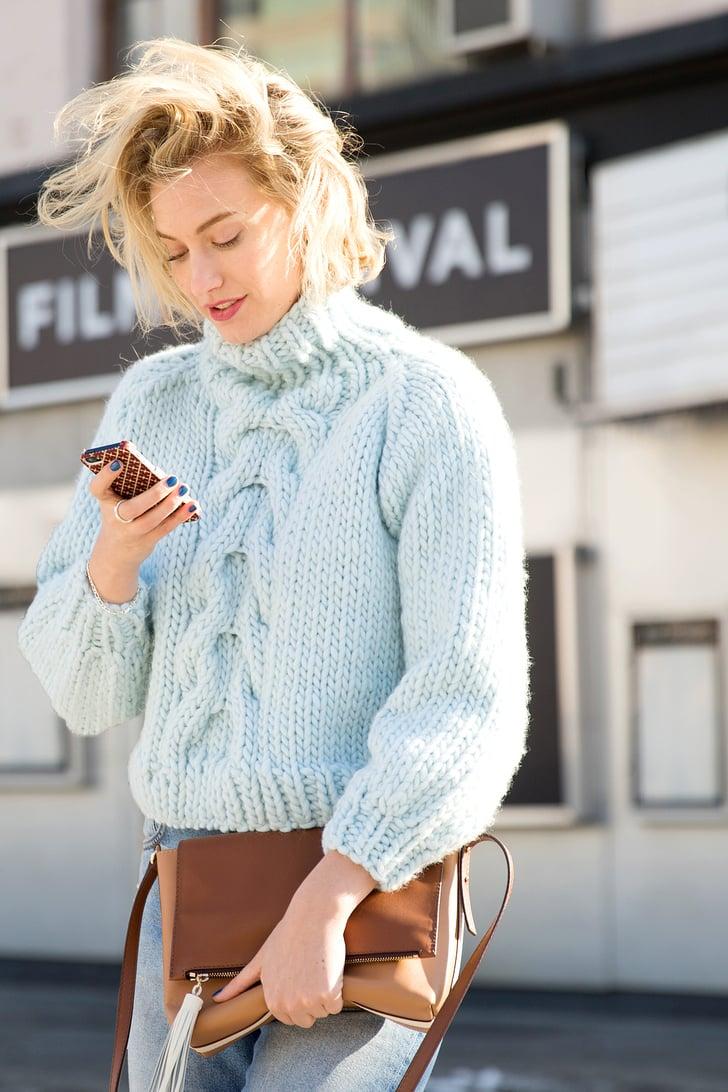Áo len sợi to thời trang mùa Thu