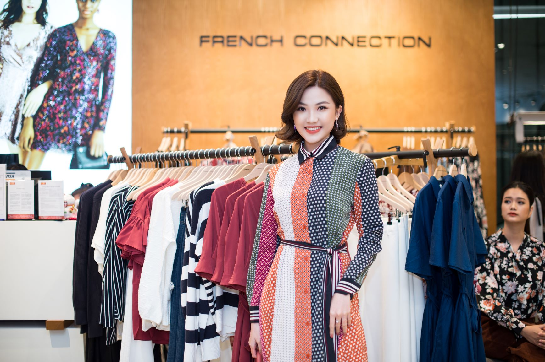 Diễn viên Lương Thanh trong trang phục BST Thu - Đông 2019 FCUK