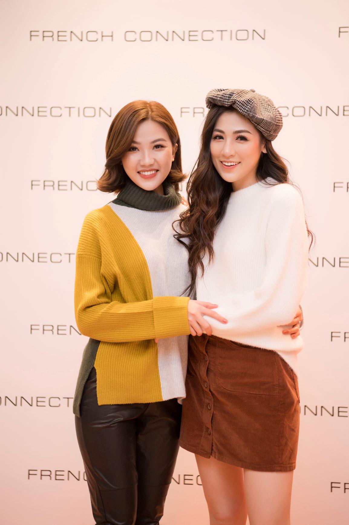 Á hậu Tú Anh và diễn viên Lương Thanh tại sự kiện thời trang FCUK
