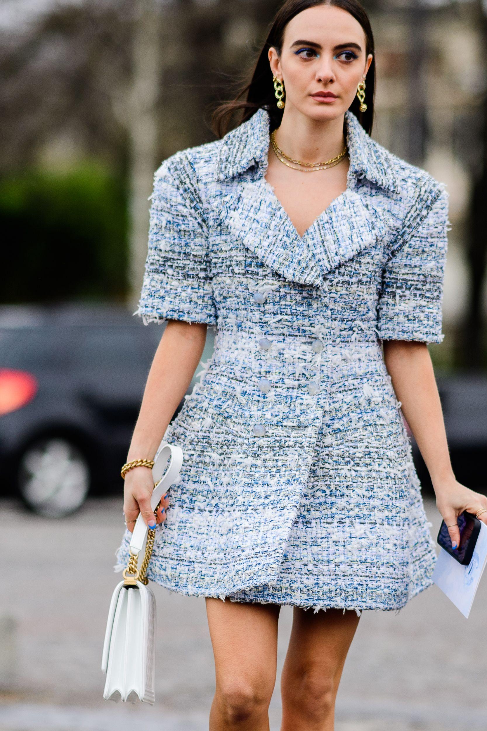 Thiết kế đầm vải tweed
