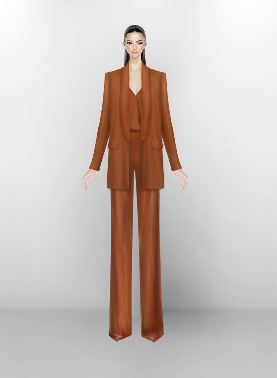 Bản vẽ bộ suit dành cho Michelle Obama của NTK Công Trí