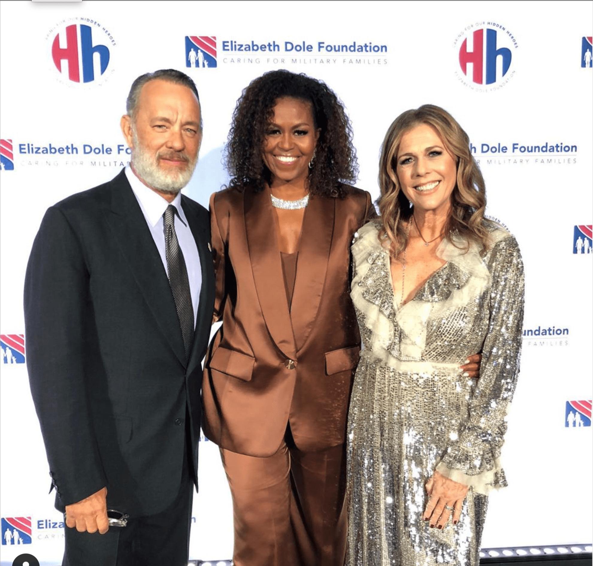 Michelle Obama mặc suit Công Trí