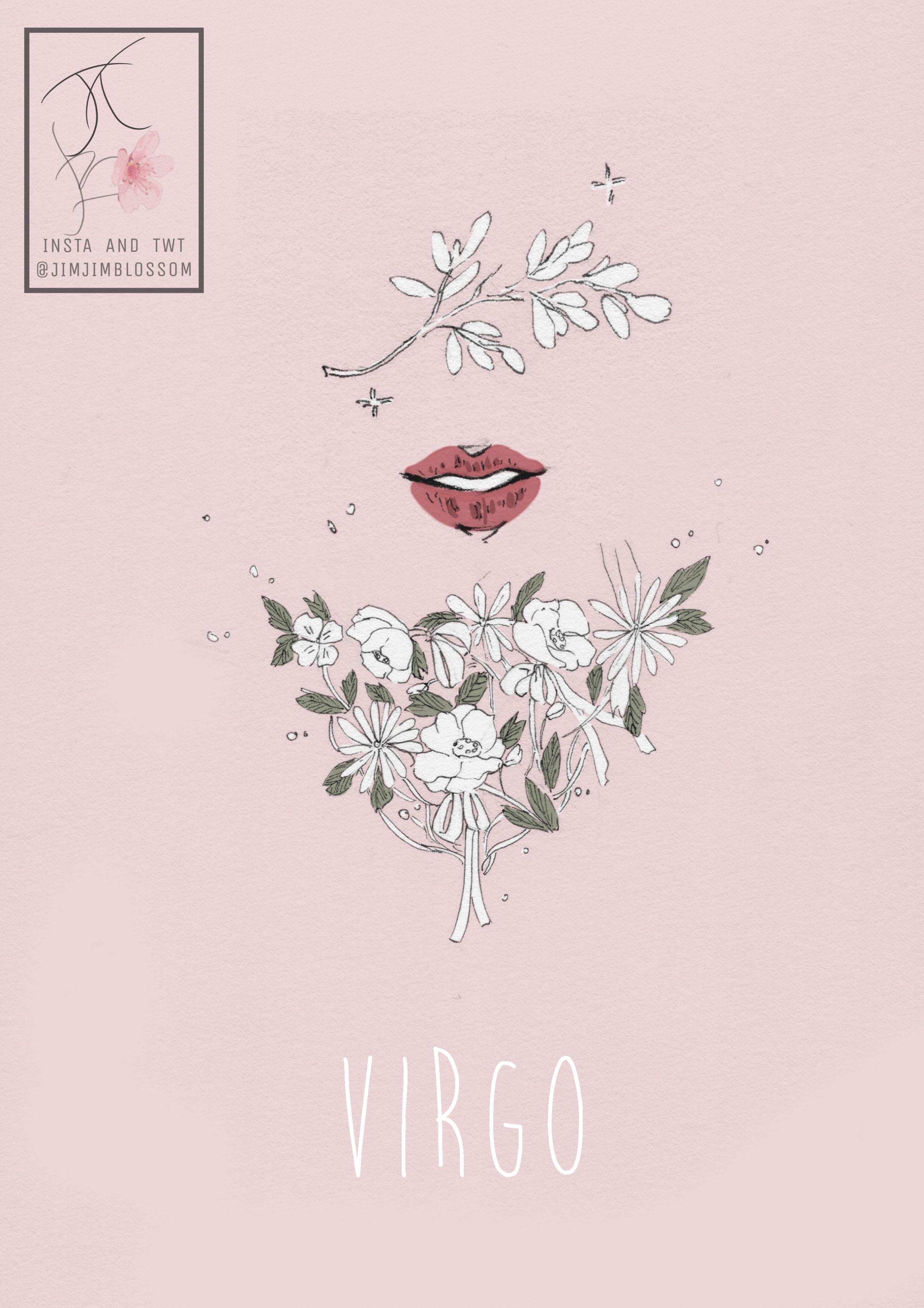 đôi môi hiện lên giữa nhưng đóa hoa - cung hoàng đạo Xử Nữ