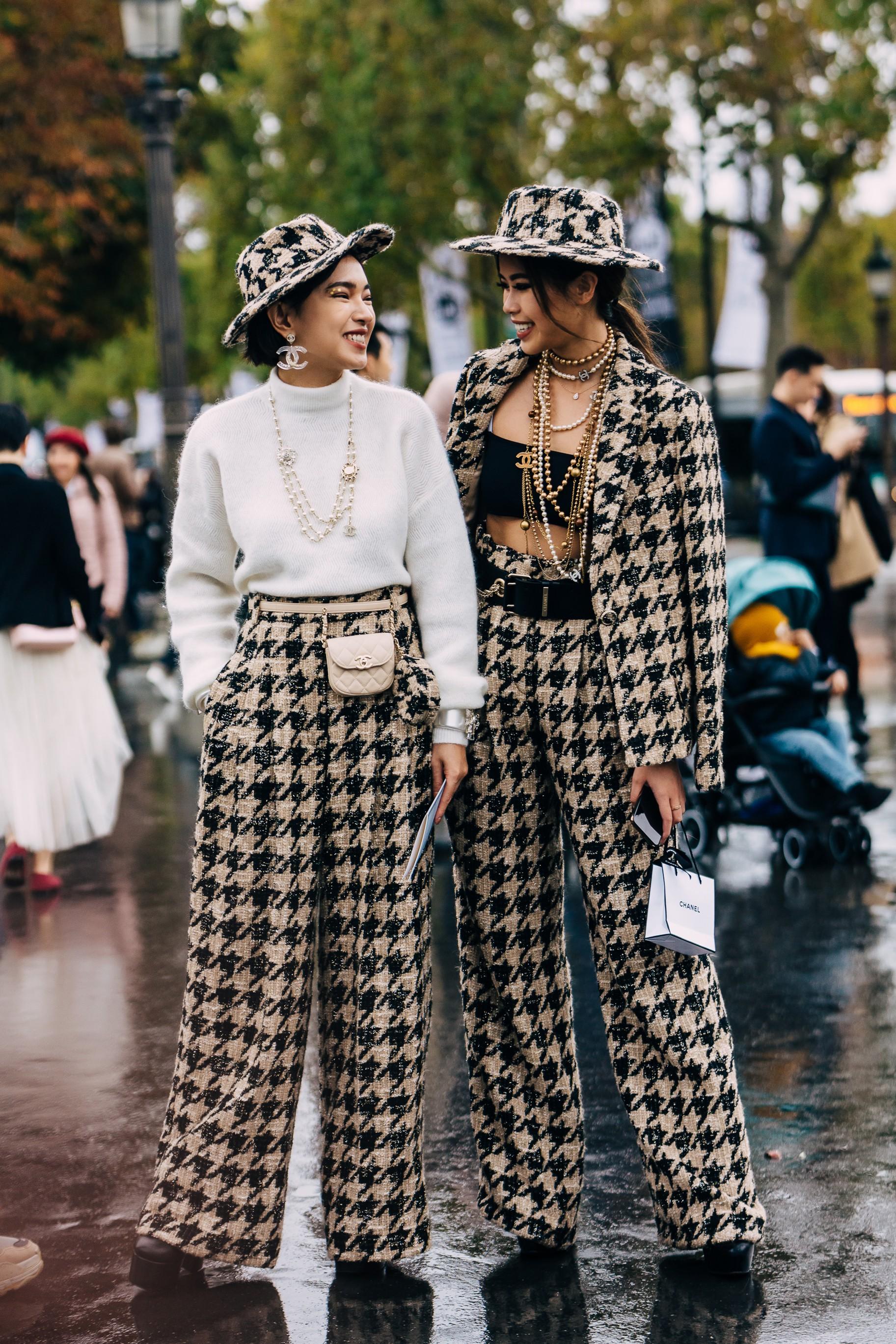 Châu Bùi và Tiên Nguyễn trang phục Chanel