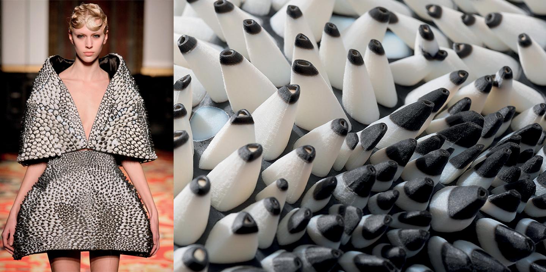 Neri Oxman NTK Mỹ thuật Công nghiệp BST Anthozoa người mẫu trên sàn catwalk