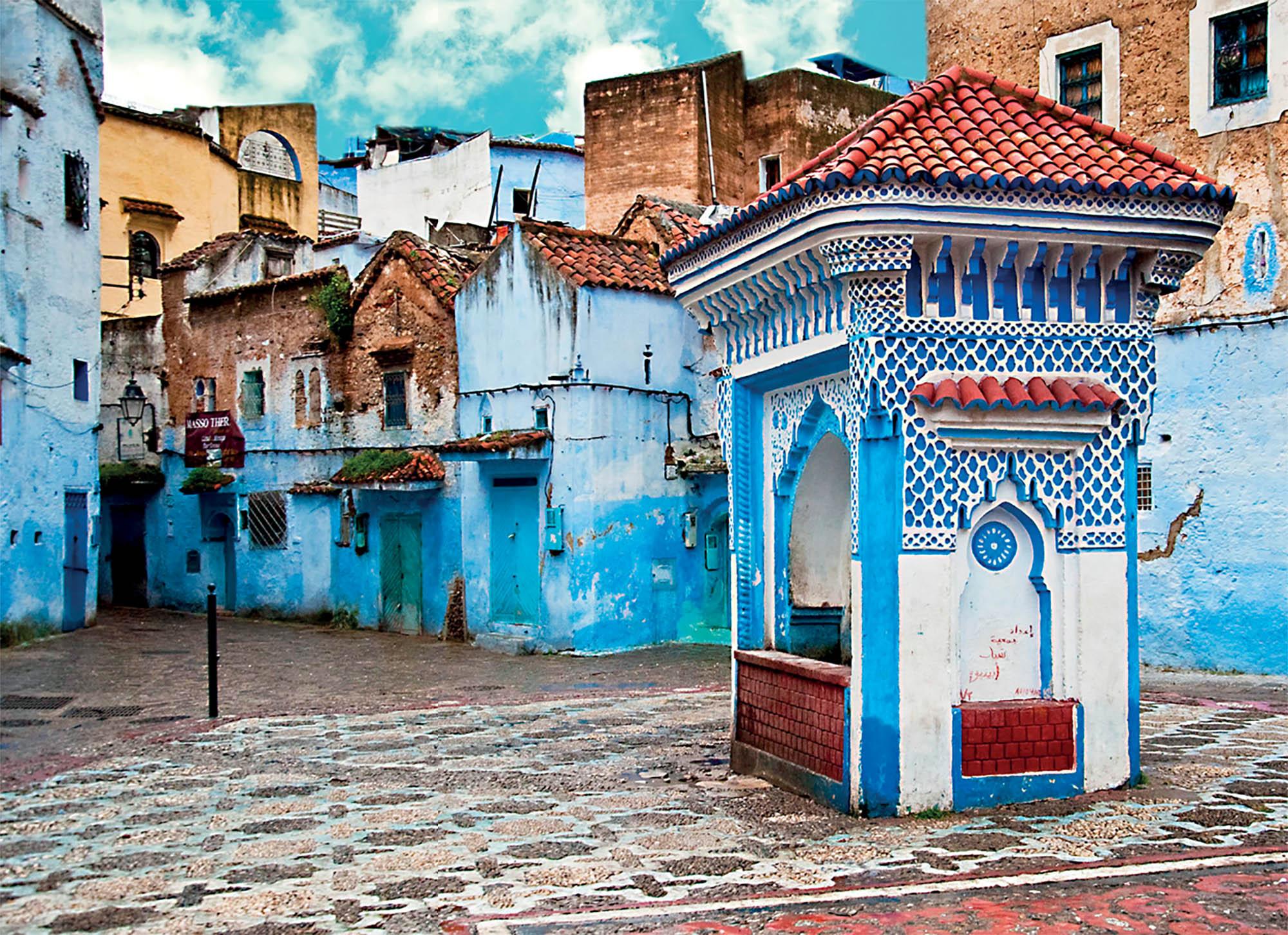 Morocco du lịch khung cảnh những ngôi nhà tại Chefchaouen