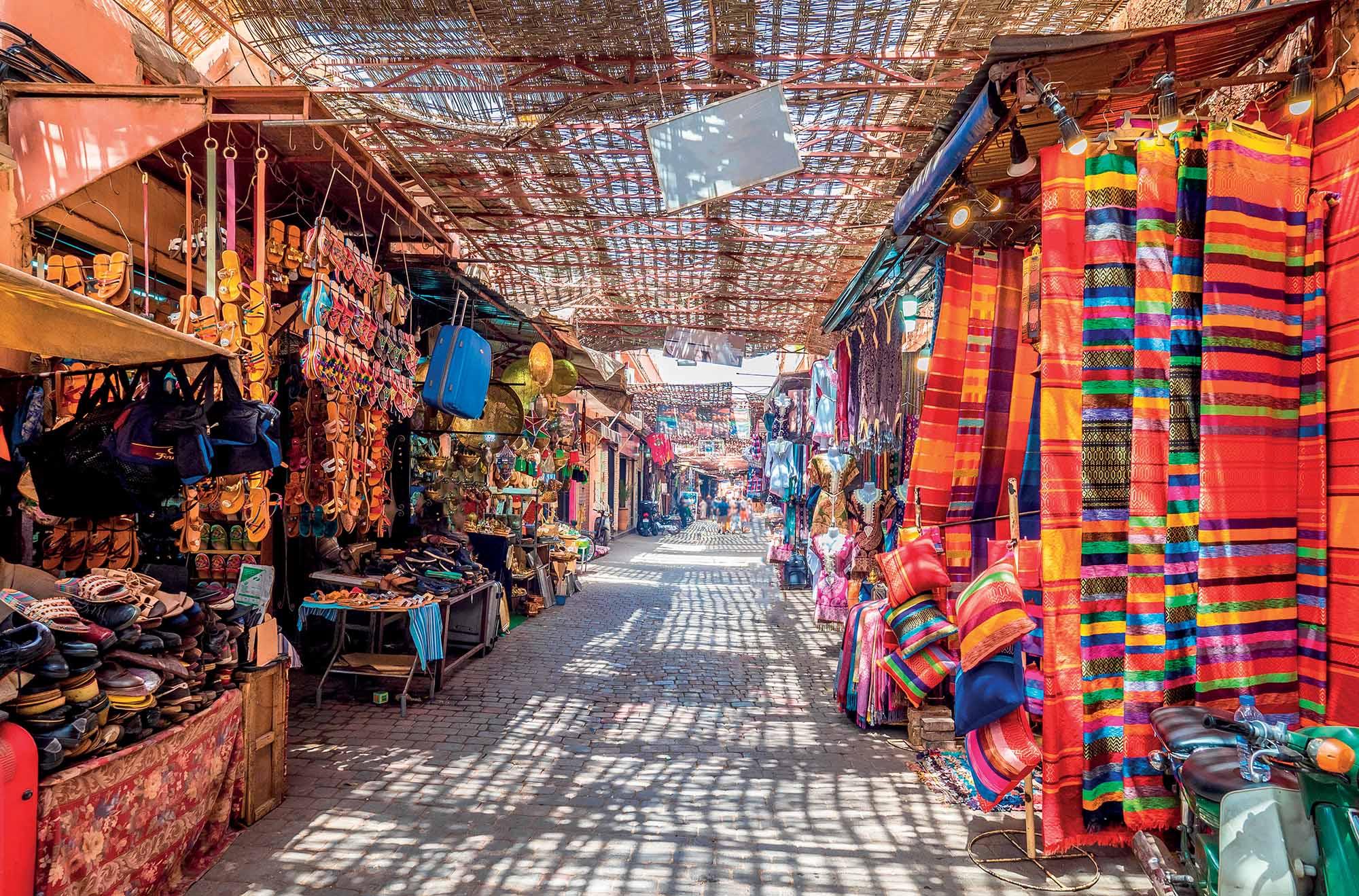 Morocco du lịch khung cảnh quảng trường Marrakesh