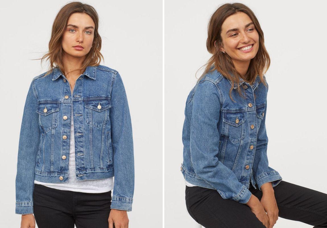 Áo khoác denim H&M - Cách phối đồ cùng jeans ống rộng