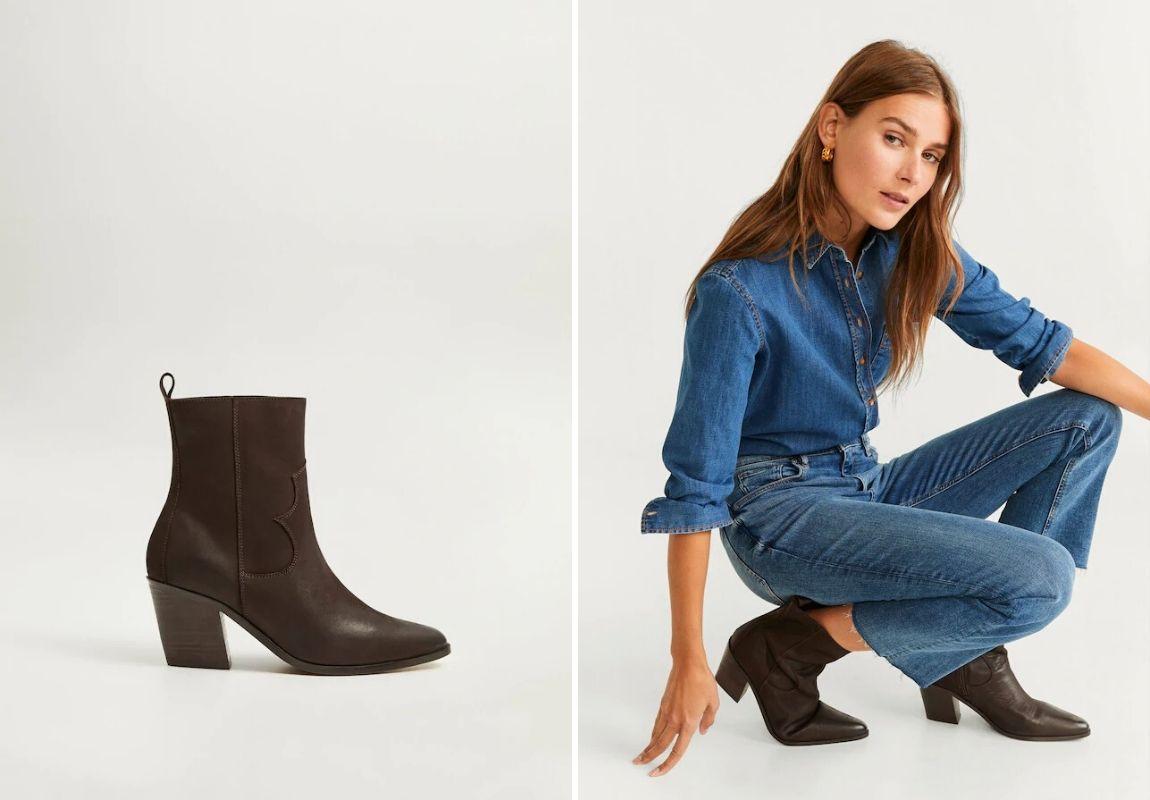 giày Mango - cách phối đồ cùng jeans ống rộng