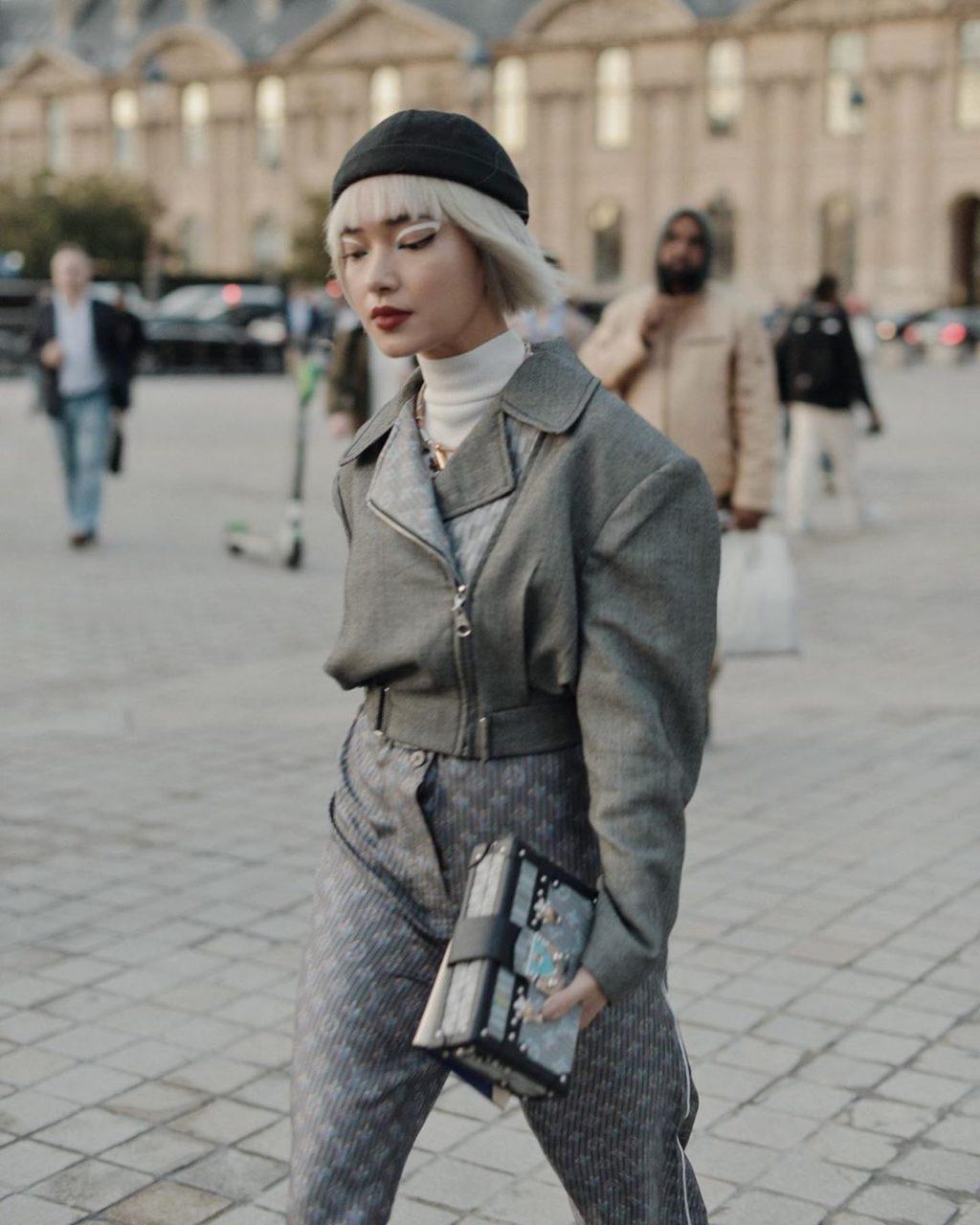 Châu Bùi tại show Louis Vuitton Xuân - Hè 2020 tại tuần lễ thời trang paris
