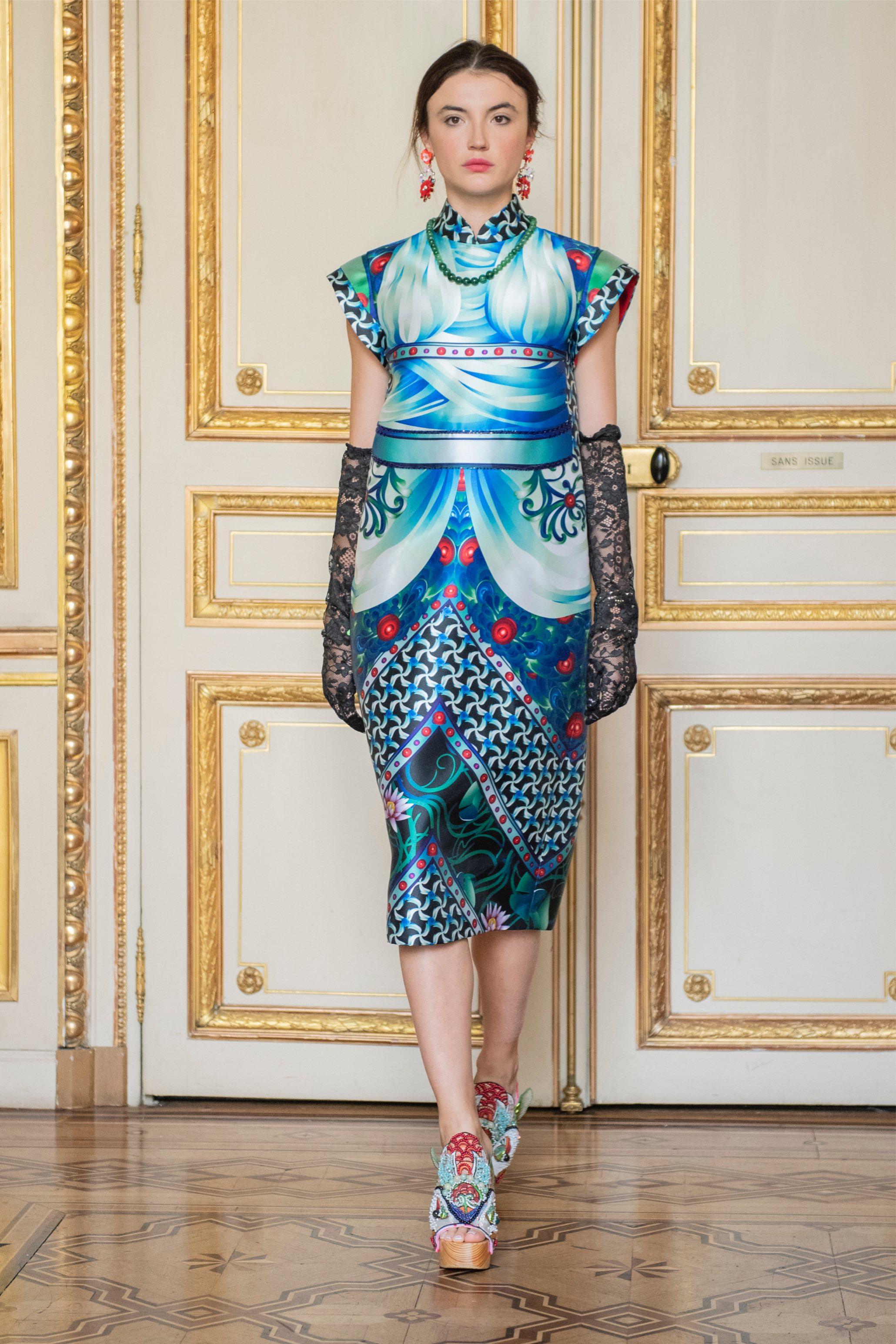 Một thiết kế của Thủy Nguyễn tại buổi trình diễn ở Paris 2019