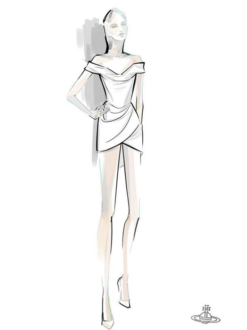 Bản thiết kế chiếc đầm của Hailey