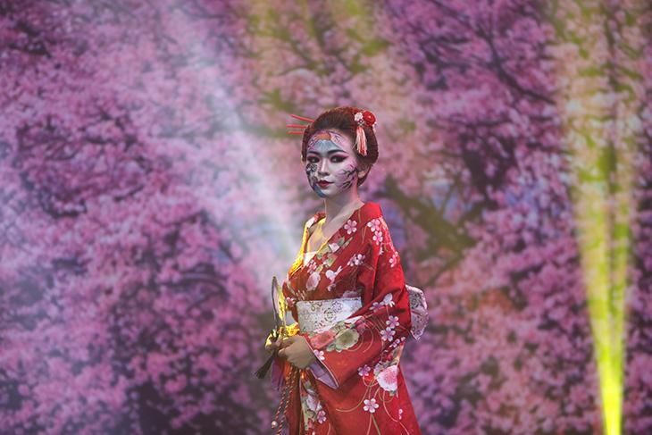 beauty expo 2019 - thí sinh hoá trang thành geisha