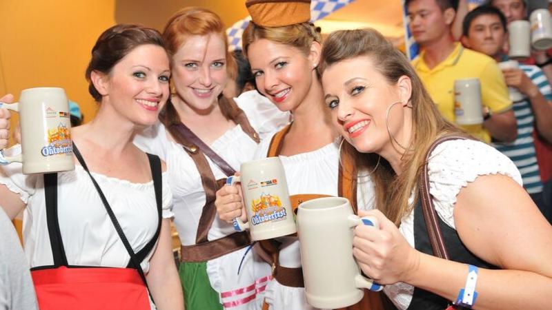 bia tại lễ hội Đức