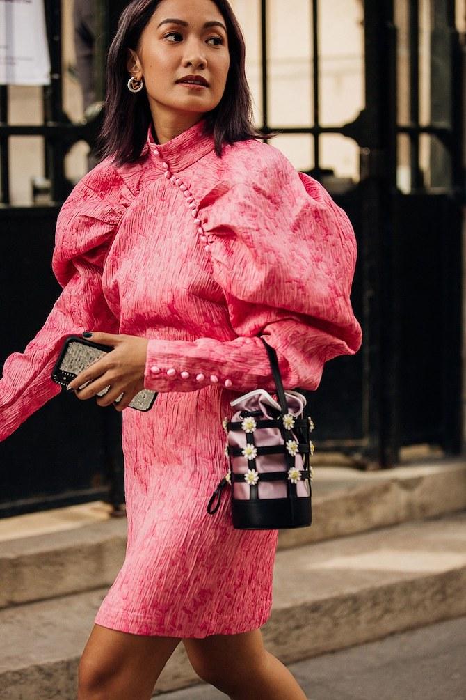 đầm hồng túi xách tím iphone