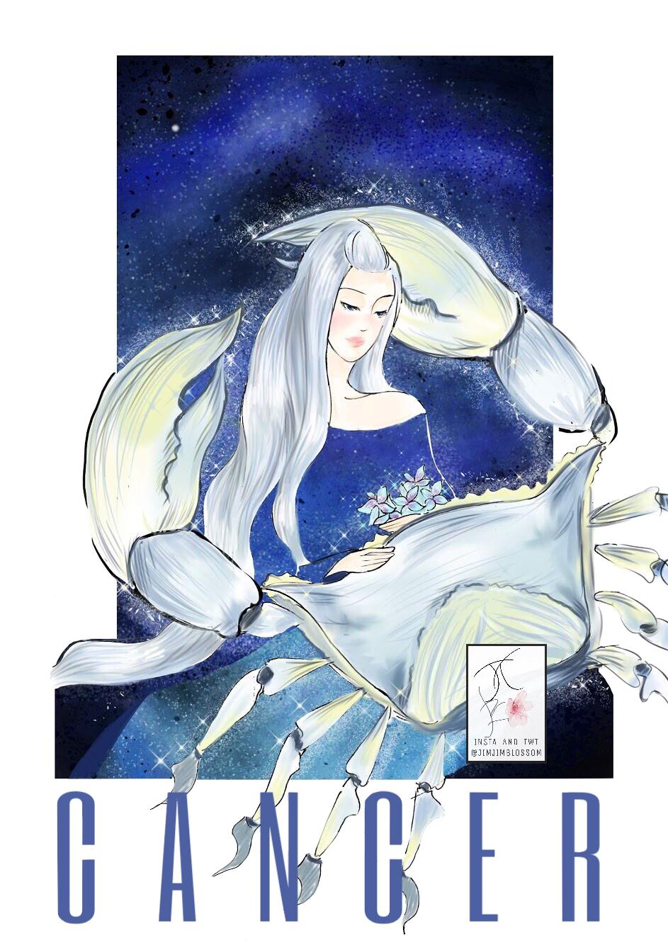 cô gái tóc ánh kim và con cua khổng lồ - cung hoàng đạo cự giải