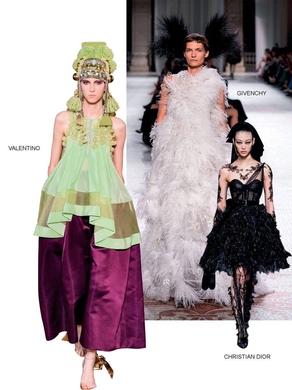 Haute Couture valentino givenchy và christian dior thu đông 2019