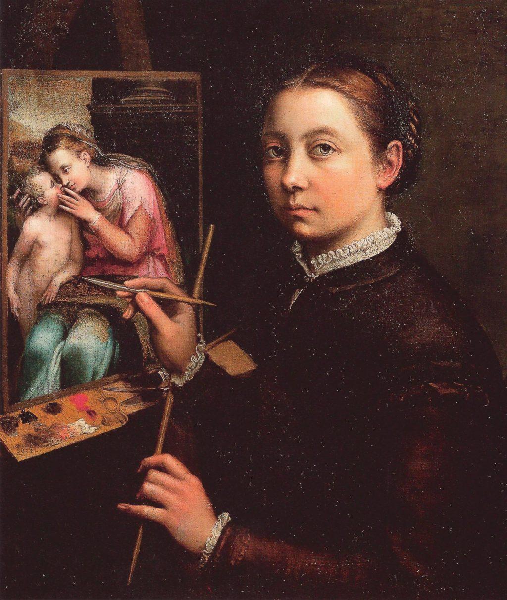 Chân dung tự họa của nữ họa sĩ người Ý Sofonisba Anguissola (1530 – 1625).