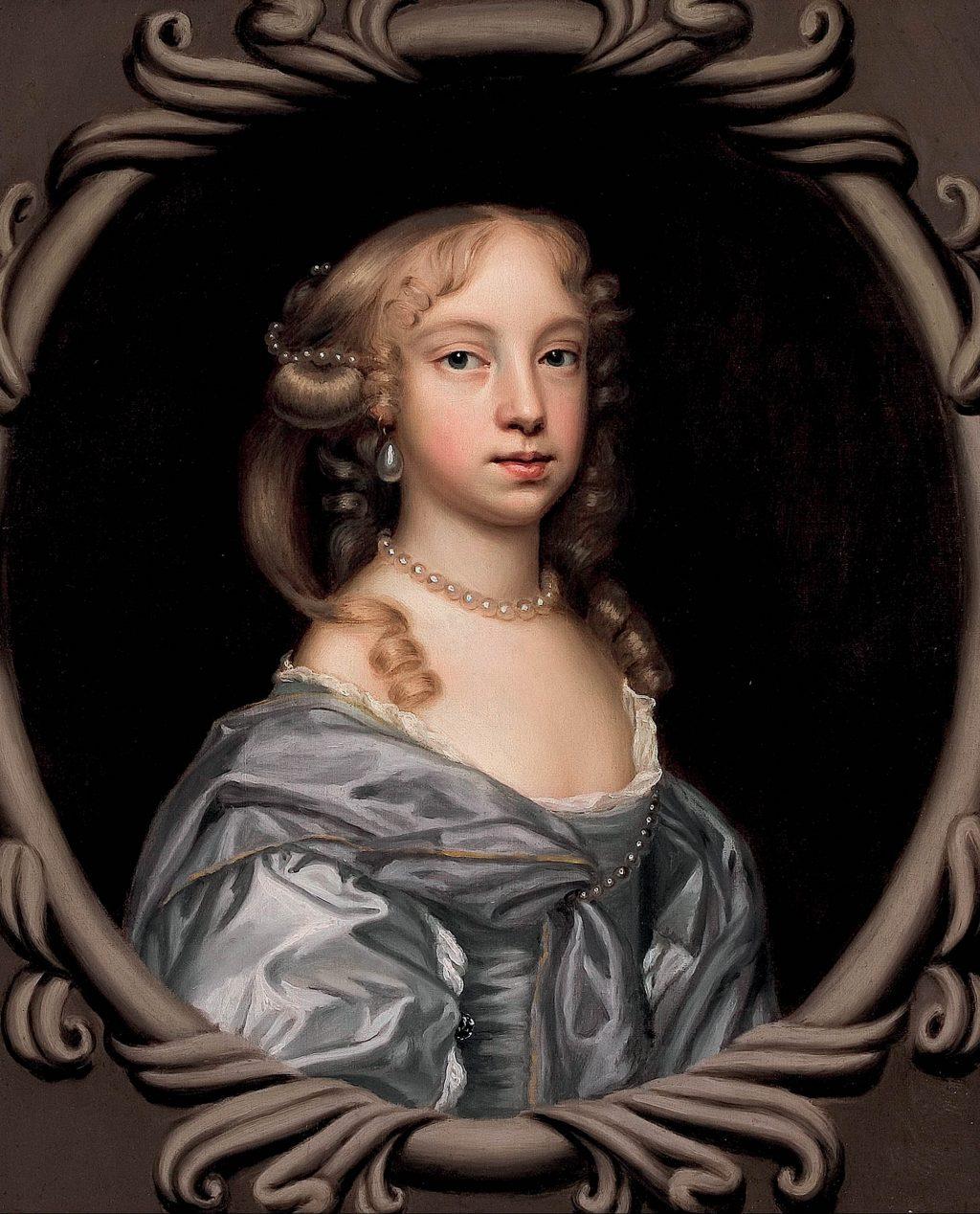 Hai tác phẩm chân dung các bé gái của nữ danh họa Mary Beale.