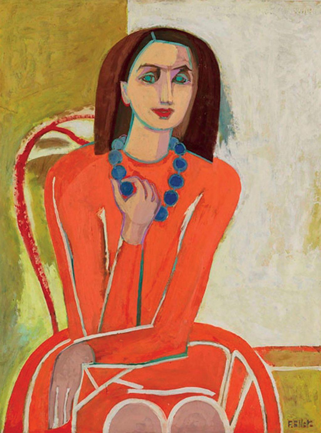 "Tác phẩm ""Study for a Self-Portrait của danh họa Françoise Gilot (1944-1945)."