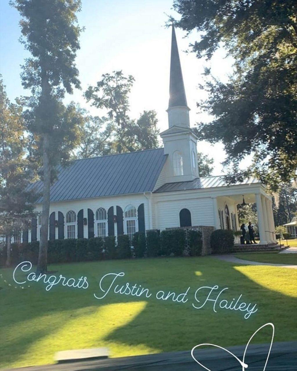 nhà nguyện nơi Justin và Hailey cưới