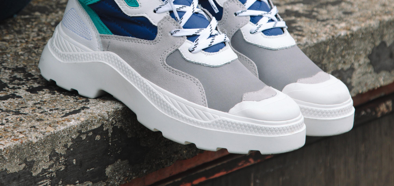 Giày Palladium Pallakix xanh xám