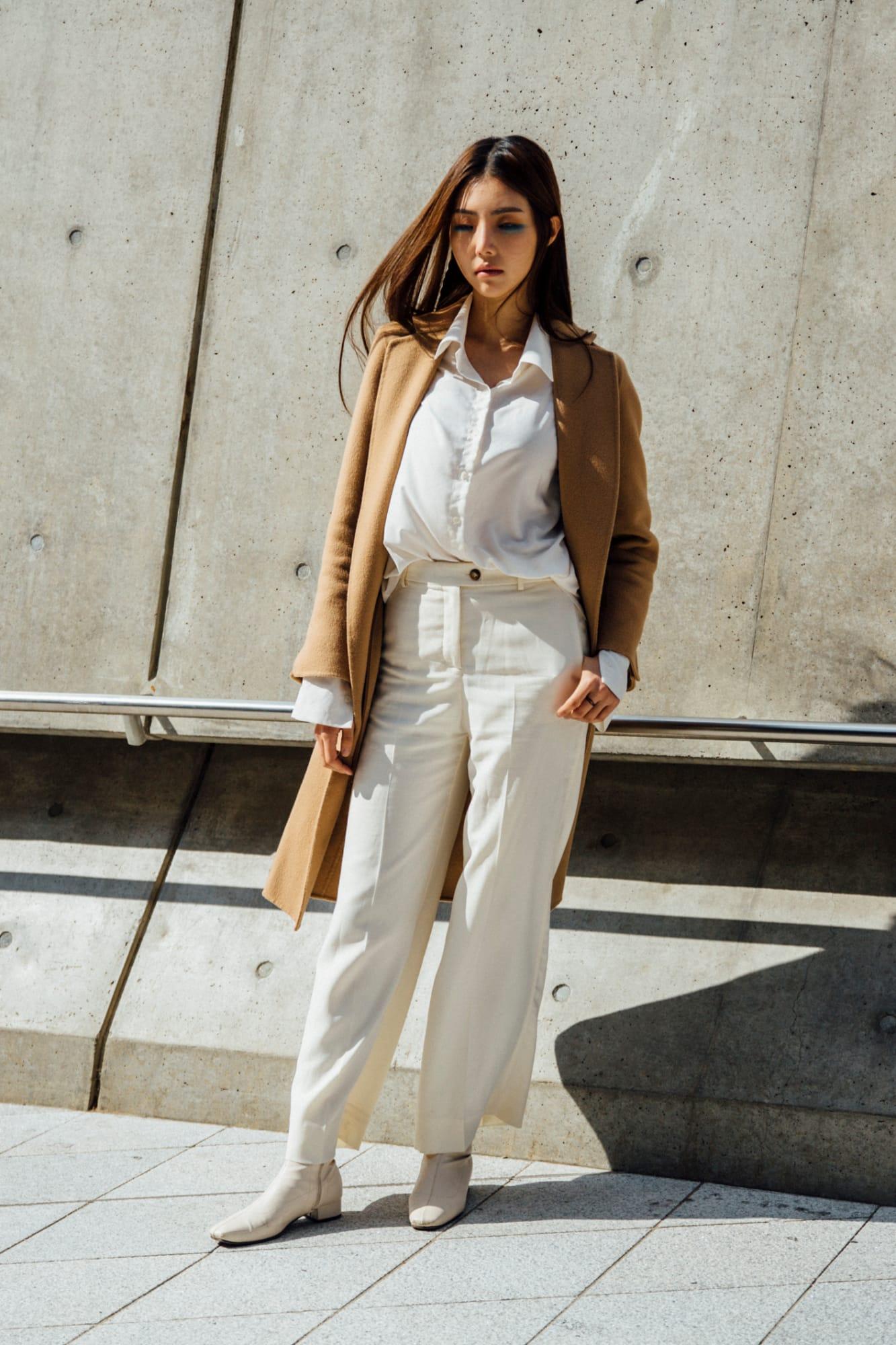 phối giày cùng màu với quần - cách phối đồ tại tuần lễ thời trang seoul xuân hè 2020