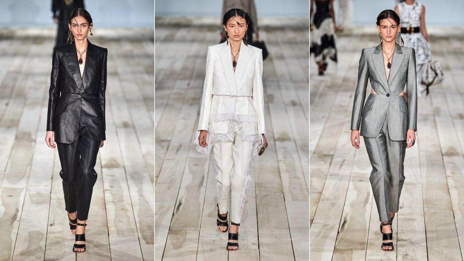 thiết kế suit trong bst alexander mcqueen xuân hè 2020
