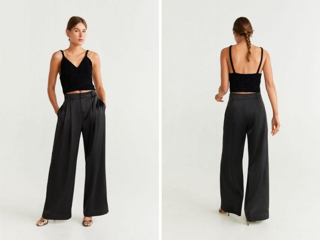 Thời trang công sở thu 2019 - quần ống rộng mango