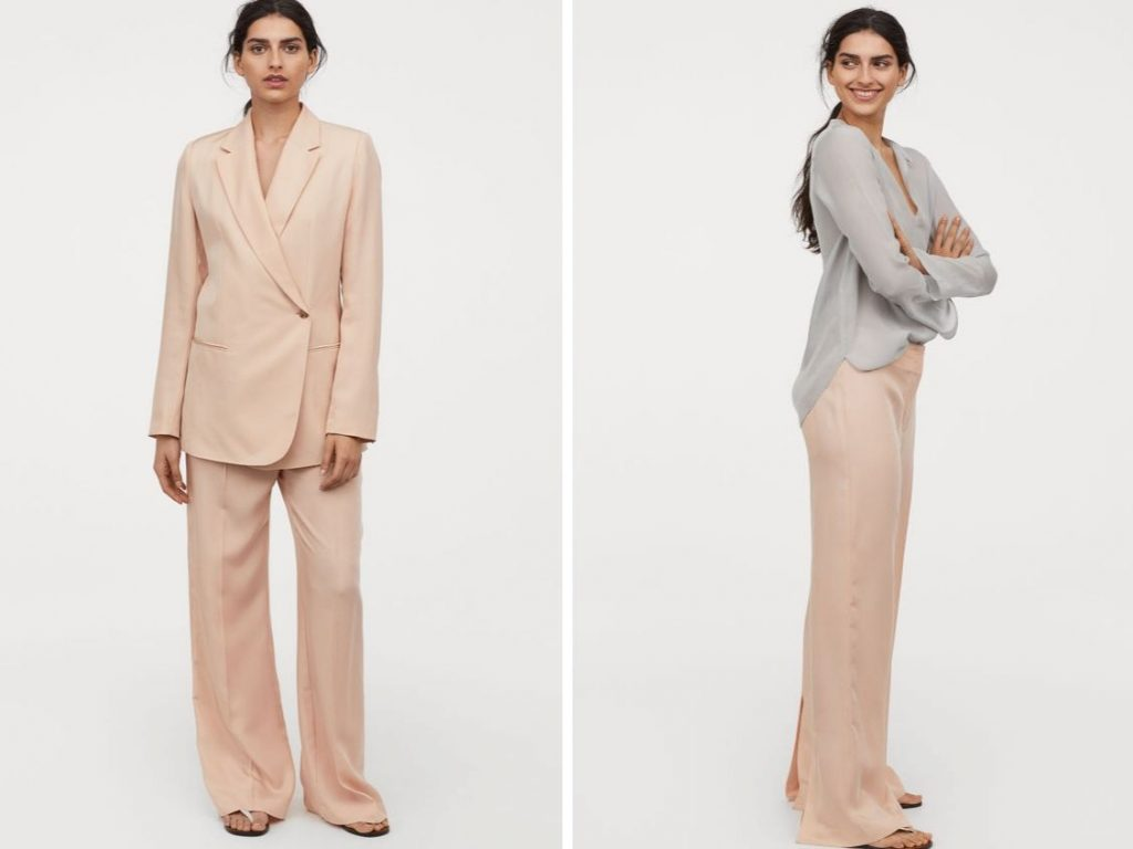 Thời trang công sở thu 2019 - quần ống rộng hm