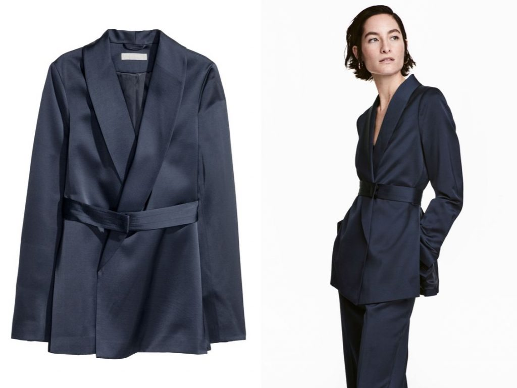 Thời trang công sở thu 2019 - suit thắt eo H&M