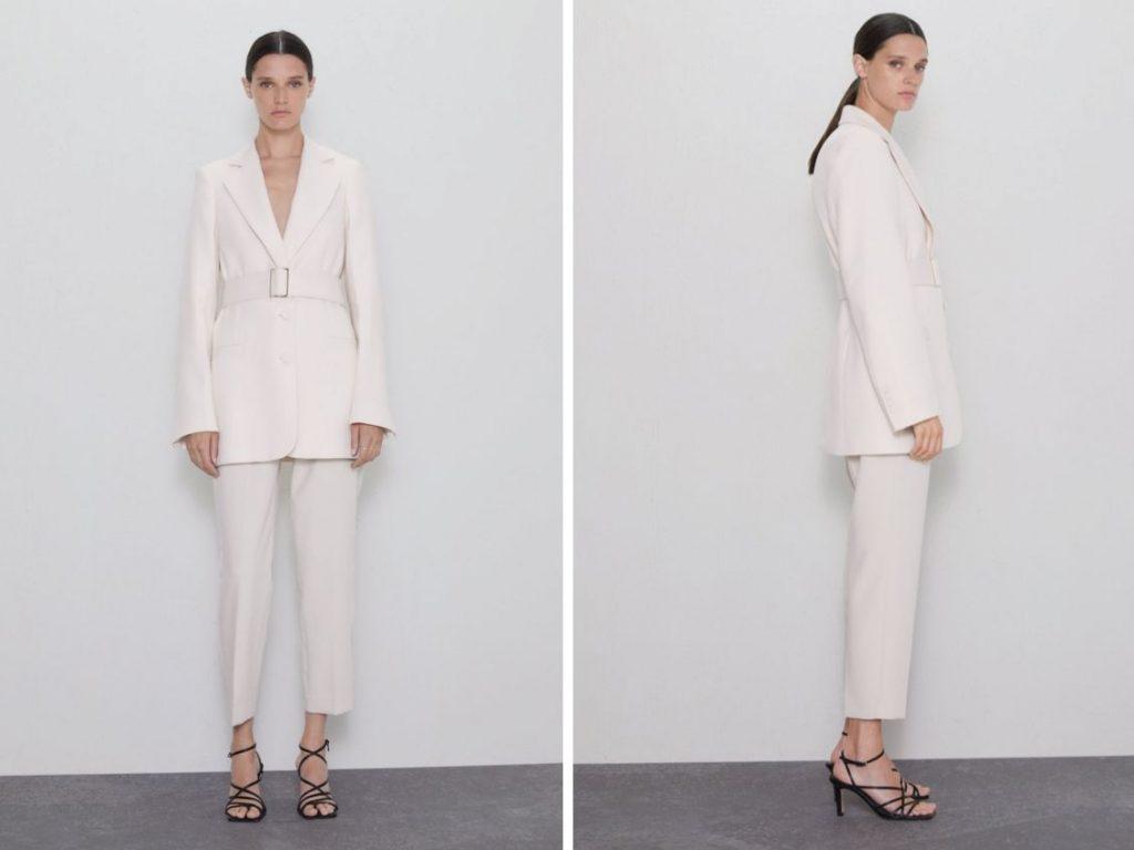 Thời trang công sở thu 2019 - suit thắt eo ZARA