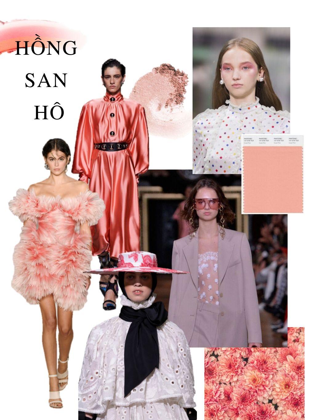 thời trang cung hoàng đạo hồng san hô coral pink