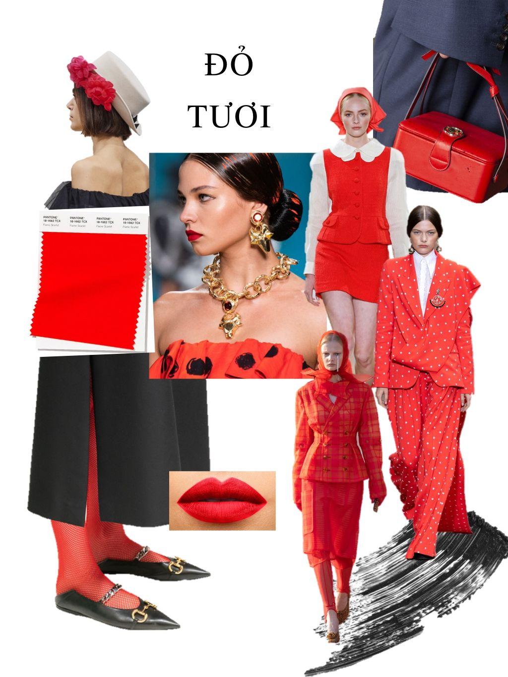 thời trang cung hoàng đạo màu đỏ